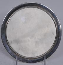 "Lot 299: Tiffany & Co. Makers sterling silver Avon Co. Presentation plate. ""1988 Loyal Service"". 8"" diameter. 9 ozt."