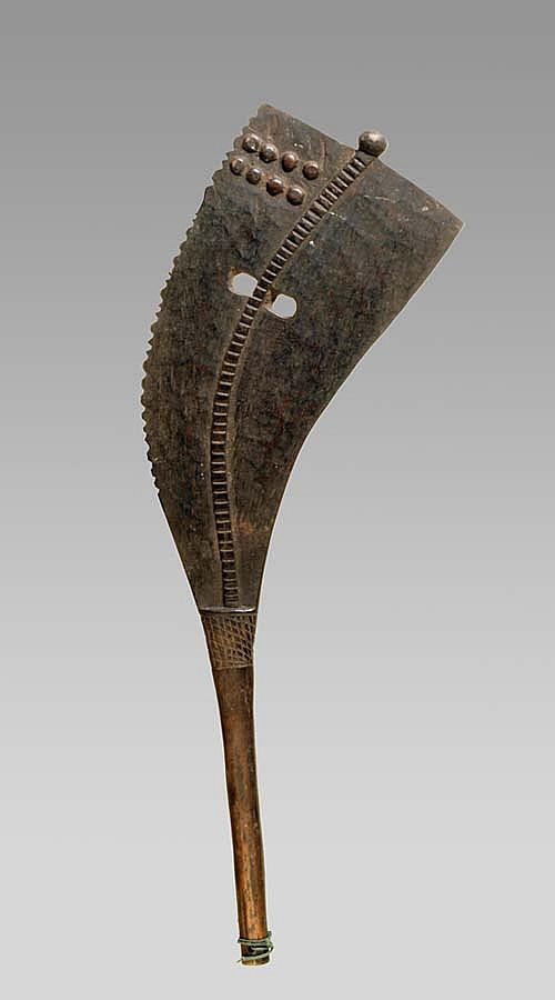 A wooden Gurunsi axe