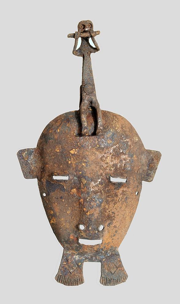 A Bamana (?) facemask of iron