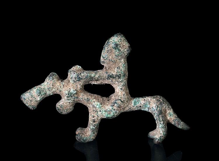 A Dogon Bronze horseman
