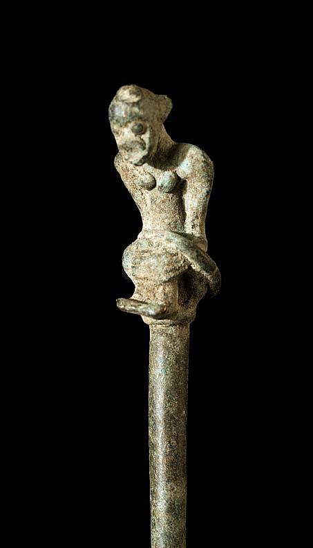 A Bronze Dogon or Bamana Hairpin