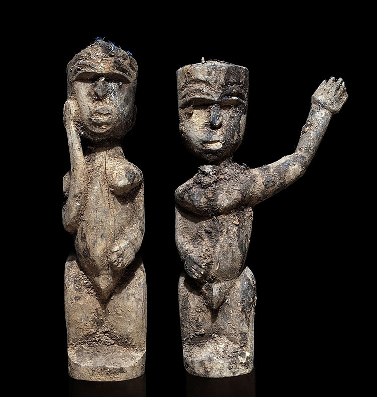 Two Lobi bateba from the same shrine