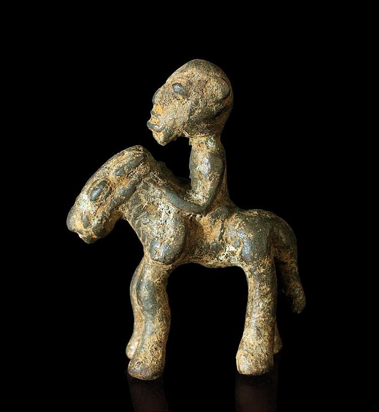 A Bamana bronze-horseman