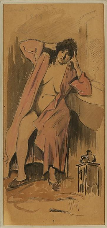 4 PIECES BY AUGUSTIN GRASS-MICK FRENCH 1873-1963