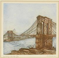 "AIDA WHEDON AMERICAN 1915-1993 ""Brooklyn Bridge"