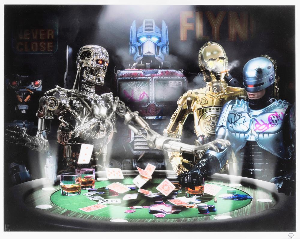JJ Adams (British 1978-), 'Droids Playing Poker'