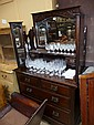 An Edwardian mahogany dressing table