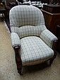 A William IV mahogany framed open armchair
