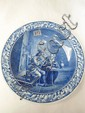 A large Delft charger blue & white decorated with