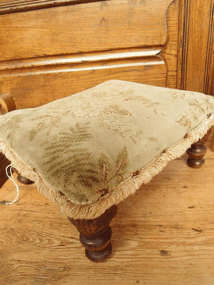 A small beech footstool