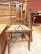 Single Edwardian inlaid mahogany bedroom chair