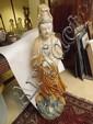 A large Chinese pottery goddess - poss. C19