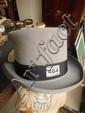 A grey top hat