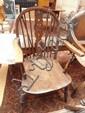 A beech wheel back armchair