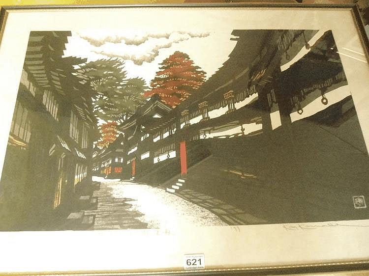 Kan Kawada (1927-1999) Japanese. A woodblock on