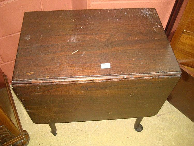 An 18th Century single drop leaf mahogany table