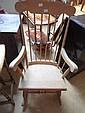 A beech rocking chair