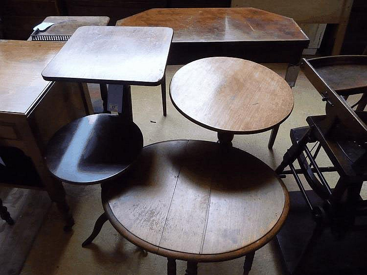 An early C19 square topped tilt top high table