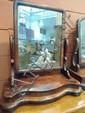 A Victorian mahogany swing toilet mirror