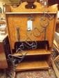 Art Nouveau oak fall front bureau