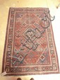 A brick red ground Shiraz rug