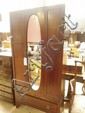 An Edwardian inlaid mahogany wardrobe a/f
