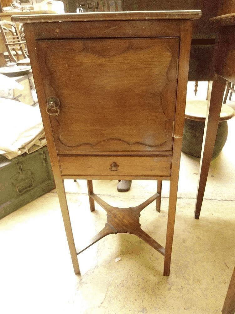 An early 19th mahogany pot cupboard.