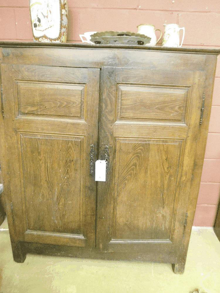 An early 18th Northern French oak armoire