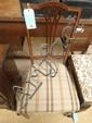 An Edwardian inlaid mahogany bedroom chair