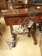 A 19thC mahogany tea table