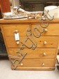 Victorian pine chest of drawers, 2 short drawers