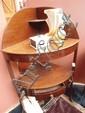 A George III mahogany corner washstand together