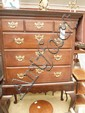 A late C18 mahogany chest on poss later stand; 3