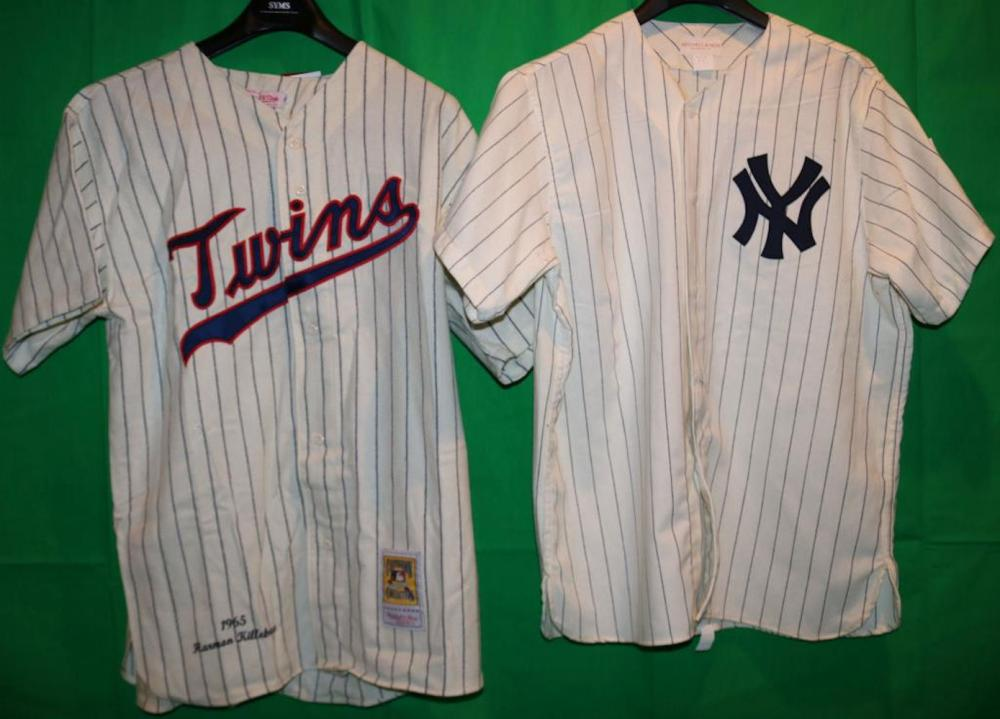 new arrivals 12c3d 24990 LOT OF 2 REPLICA COOPERSTOWN COLLECTION JERSEYS