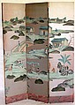 3 FOLD ORIENTAL STYLE SCREEN, WITH