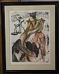 SALVADOR DALI SIGNED LITHOGRAPH, BULL FIGHTER,
