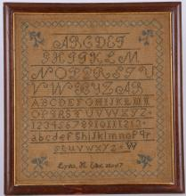 ALPHABET & NUMERAL SAMPLER: LYDIA H. ELLIOT AGED 7