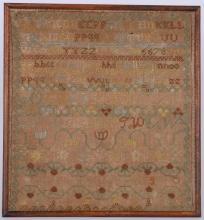 ALPHABET & NUMERAL SAMPLER: ELIZABETH MARY BEILLY, 1814