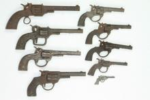 Lot of (9) Revolver Type Toy Guns