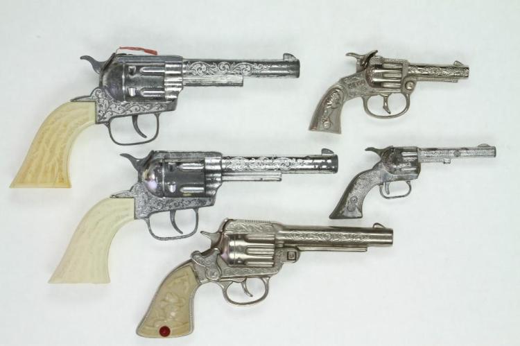 (5) 1950's era Cap Pistols