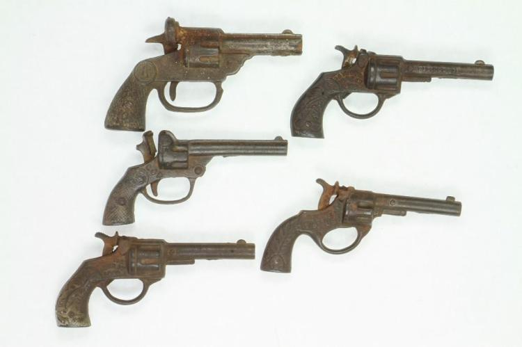 Lot of (5) Single Shot Toy Revolvers