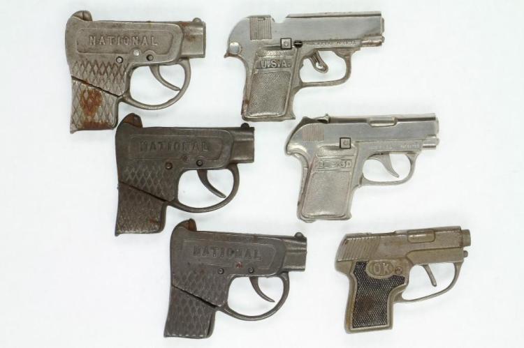 (6) Cap Pistols Modeled After Colts Pocket Automatic