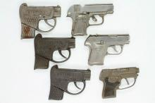(6) Cap Pistols Modeled After Colts Pocket Automatic