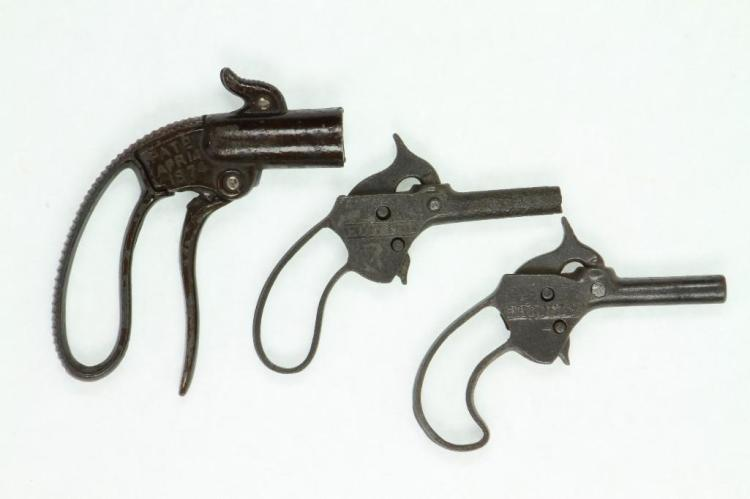 (3) Early Open Grip Toy Pistols