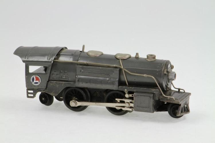 Pre-War Electric Orange Steam Locomotive