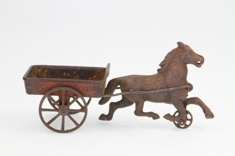 Cast Iron Horse and Cart