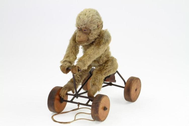Monkey on Cart Pull Toy
