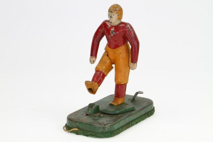 Cast Iron Football Player