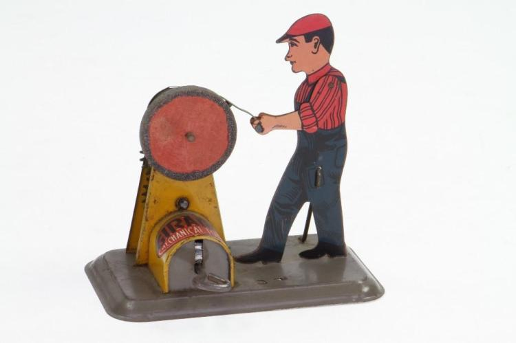 Worker at Grinding Wheel