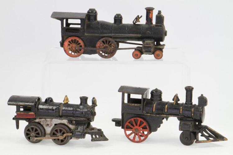 Lot of (3) Cast Iron Steam Locomotives